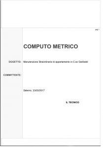 ristrutturazione di un appartamento: il computo metrico