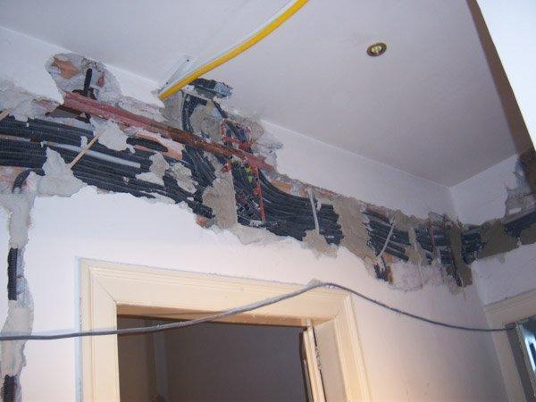 Ristrutturare un appartamento parte 5 il rifacimento - Realizzare impianto elettrico casa ...
