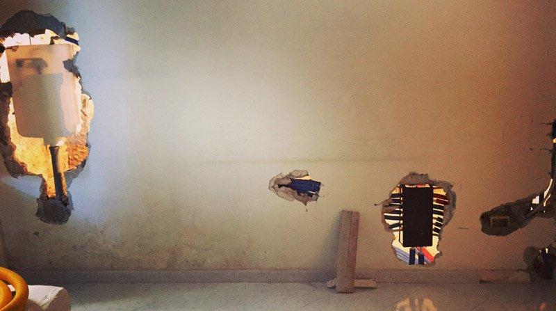 ristrutturare un appartamento il muro sospeso