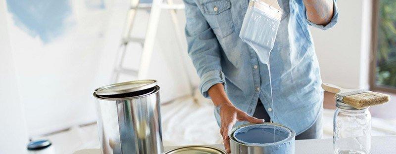 imbiancare casa: le idropitture