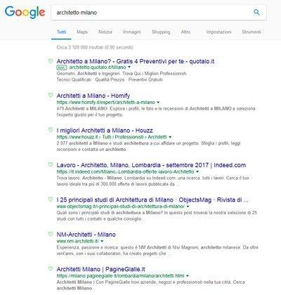 studio di architettura a milano: i risultati di google