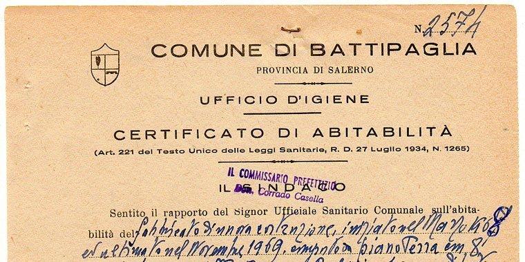 certificato di abitabilità
