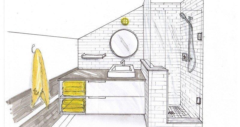 realizzare secondo bagno disegno