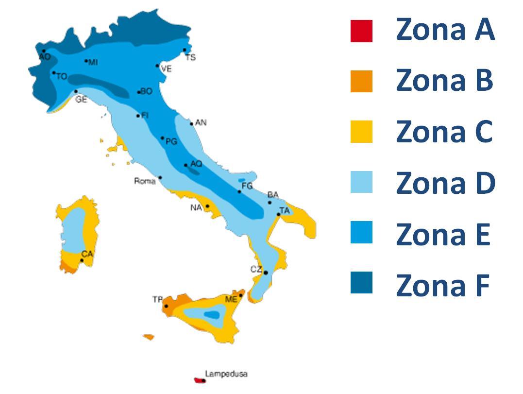 sostituzione degli infissi: le zone climatiche in Italia