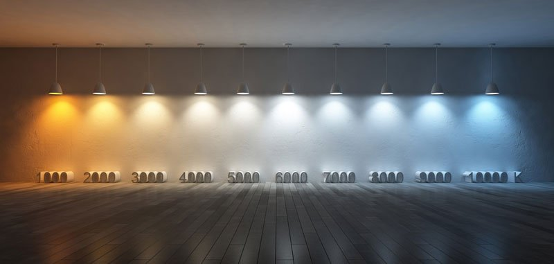 le lampade e la temepratura colore
