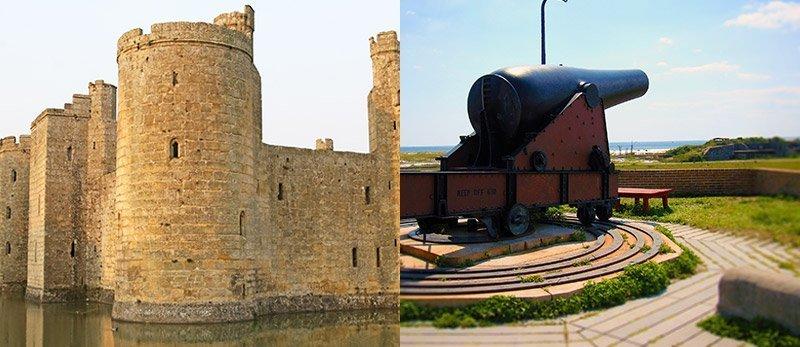 i sistemi di sicurezza passiva: bastioni e cannoni