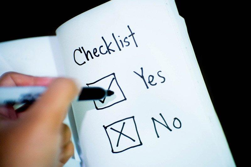 checklist per gli infissi in legno
